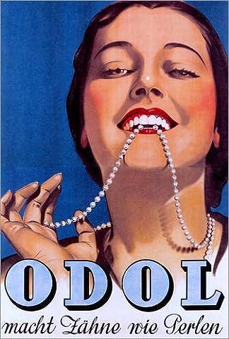 Impression sur bois 40 x 60 cm: Odol makes teeth like pearls