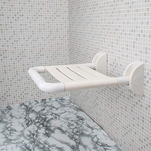 Badezimmer Klappsitz, Dusche Hocker Old Man Sitz, Wandmontage Bad Stuhl, Ersatz Schuhbank Edelstahl,White - Stuhl Für ältere Dusche Menschen