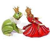 Prinzessin mit Froschkönig Frosch Figur Polyresin Dekofigur Zierfigur