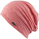 Feinzwirn Trendige sehr leichte Beanie mit ca. 2 mm Stoffdicke für Sport und Outdoor (Flamingo-pink)