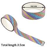 50Rollen Glitter Washi Tape Set, ideal für DIY Decor Klebeband Scrapbooking Aufkleber Abdeckpapier Schulbedarf