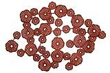 Stravagante scultura da parete in metallo KunstLoft® 'Barriera corallina' 98x68x6cm   Decorazione parete XXL design fatta a mano   Astratto rosso coralli   Quadro di metallo lussuoso plastico murale