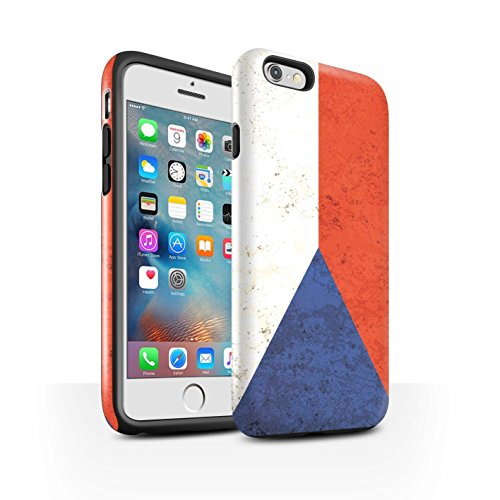 Coque Brillant Robuste Antichoc de STUFF4 / Coque pour Apple iPhone 6 / Russie Design / Drapeau Collection République Tchèque