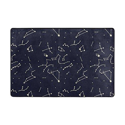 ingbags Space Galaxy Nebula Universe 12Sternbilder Wohnzimmer Essbereich Teppiche 3x 2Füße Bed Room Teppiche Büro Teppiche Moderner Boden Teppich Teppiche Home Decor, multi, 3 x 2 Feet