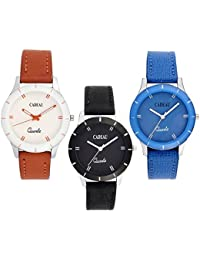 CADEAU Combo Of 3 Analogue Dial Girl's And Women's Watch Casual / Formal / Party Wear Watches For Girls / Ladies...