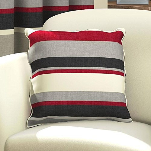 Fodera per cuscino decorativo quadrato - cotone - 43 x 43 cm - nero