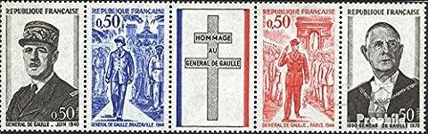 France 1772-1775 bande de cinq (complète.Edition.) 1971 charles de gaulle (Timbres pour les collectionneurs)