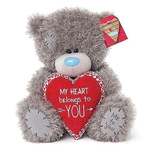 Soft Grey Me To You Medium Plush Tatty Teddy Bear Cushion My Heart Belongs To You