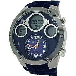 Henley Herren Ana/Digi Chronograph, Zifferbl. bel. blaues Silikonband HDG027.6