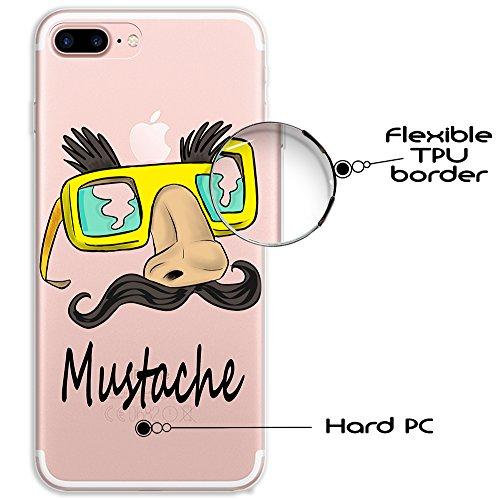 iPhone 7 Plus Hülle, WoowCase® [ Hybrid ] Handyhülle PC + Silikon für [ iPhone 7 Plus ] Französische Bulldogge Tier Mehrfarbige Design Handytasche Handy Cover Case Schutzhülle - Transparent Hybrid Hülle iPhone 7 Plus H0003
