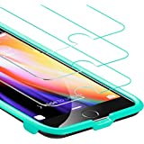 [Free Self-Installation Kit] 3-Pack ESR iPhone 7 Tempered Glass Screen Protector Ultra 9H Hardness Anti-Scratch Anti-Fingerprint Anti-Oil Coating with Bubble-Free Installation Tool for iPhone 7 4.7""