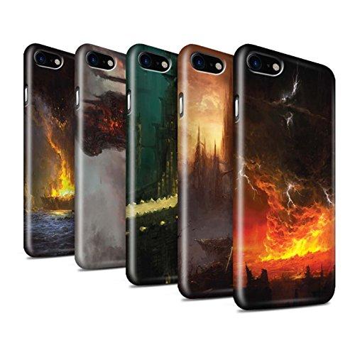 Offiziell Chris Cold Hülle / Glanz Snap-On Case für Apple iPhone 7 / Baum des Wissens Muster / Gefallene Erde Kollektion Pack 8pcs