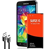 SUNZOS Galaxy S5 Mini Battery, SUNZOS 2200mAh Li-ion Battery for Samsung Galaxy S5 Mini (Compatible with All Galaxy S5 Mini Models) - EB-BG800BBE/EB-BG800BBU[3 Years Warranty]
