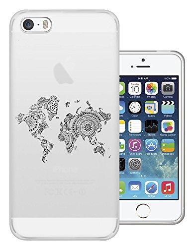 5c Iphone-hülle World Map (C0269 - Aztec Design Cool Fun World Map Design iphone 6 6S 4.7'' Fashion Trend Silikon Hülle Schutzhülle Schutzcase Gel Rubber Silicone Hülle)