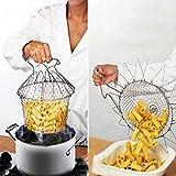 bleulover faltbar Ausspülen Dampfmaschine Strain (Manga) Fry Chef de Basket Strainer Net Küche Küche Werkzeug