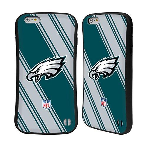 Ufficiale NFL Righe 2017/18 Philadelphia Eagles Case Ibrida per Apple iPhone 6 Plus / 6s Plus Righe