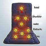 DEED Massager- Vibration Heating Electric Waist Neck Multifunctional Neck Massage Pad for Full Body Neck Waist Shoulder Back Home Massage Mattress Cushions