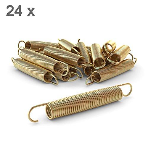 Ampel 24 Trampolin Ersatzfeder-Set bestehend aus 24 Federn, Länge Zugfeder ca. 178 mm, Sprungfeder extra verstärkt und Lange haltbar