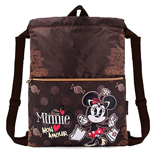 Karactermania Minnie Mouse Mon Amour Bolsas con Cordón, 42 cm, Marrón