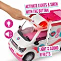 Barbie FRM19 Careers Care Clinic Ambulance, Play, Role Model, Lights and Sounds, Lots of Accessories Vehicle, Multi-Colour, Norme