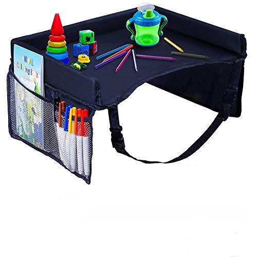 Plateau de Voyage pour Enfants, plateau de voyage pour siège avec poches en filet, organisateur de plateau pour...