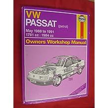 Volkswagen Passat (Petrol) 1781cc and 1984cc, 1988-91 Owner's Workshop Manual (Service & repair manuals)
