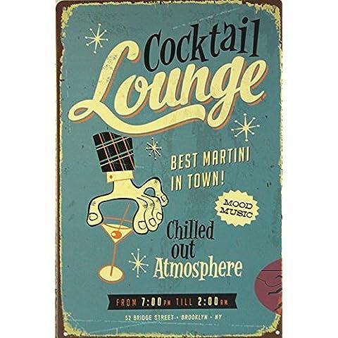 (19999) - Bar el mejor martini de la ciudad grande de metal de estaño PÓSTER FIRMAR UNA PLACA DE PARED-26 Envío gratis