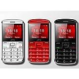 Teléfono Móvil con GPS y boton SOS para Personas Mayores Ji08 - Rojo