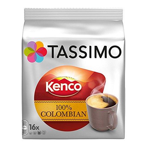 TASSIMO Kaffeekapsel Kenco Colombian Kaffee 5er PACK: 5x16TDiscs 80 Portionen