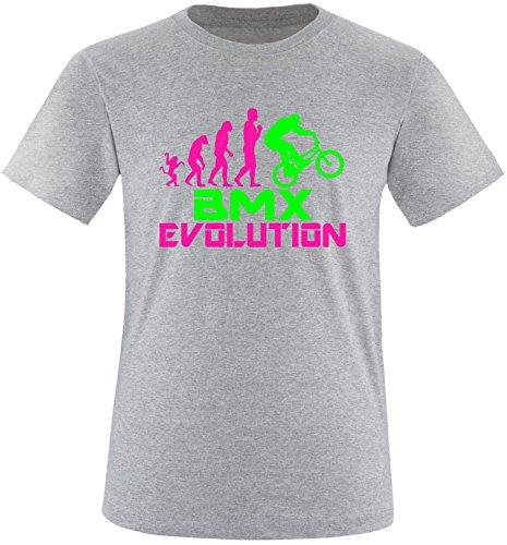 EZYshirt® BMX Evolution Herren Rundhals T-Shirt Grau/Pink/Neongr