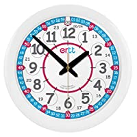 EasyRead Time Teacher Analog Learn The Time Children's Wall Clock #ERC-RB-24