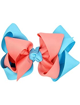 Zhhlinyuan Kids Girls 2 Colours Sweet Large Bows Hair Clip Pretty Boutique HC009