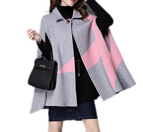 Autunno E Inverno Delle Donne Sciolto Maglione Maglione Ciondolo Maglione Colletto Di Bambola Fuori Prendere Un Lungo Cappotto Gray