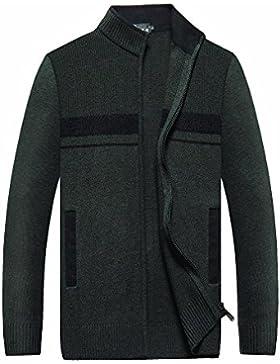 MEI&S Uomini Zip calda maglia spessa Cardigan maglione maglieria cappotto giacca