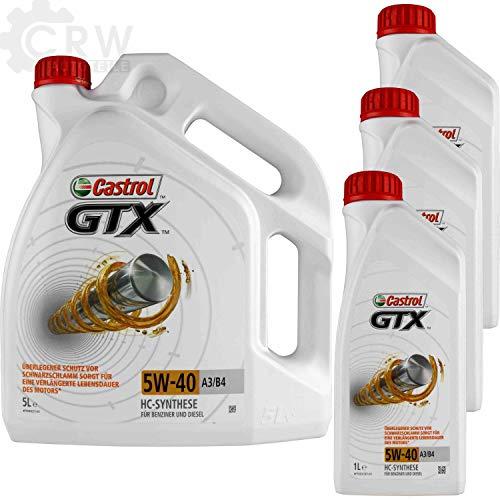 8 Liter Original Castrol Motoröl GTX 5W-40 A3/B4 Motorenöl Engine Oil