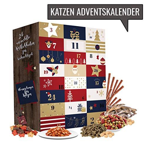 Katze Adventskalender 2018 I Weihnachtskalender mit 24 hochwertigen Feinkostartikeln für ihren Vierbeiner. Adventskalender für Tierliebhaber und Katzenbesitzer