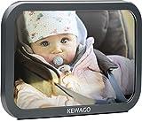 Rücksitzspiegel für Babys von Kewago. Auto Babyspiegel für den Rücksitz in Cool Gray, bruchsicher und leicht verstellbar