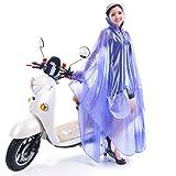 xiaowu Regenmantel transparente Mode Ärmel Fahrrad/Elektro-Auto einzigen Outdoor-Poncho, 4
