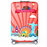 Description: Durable, waterproof, dustproof, reusable and Washable. Each bag comes with a zipper and buckle, easy to close and open. Protects your case from dust, scratches, and other damage. Perfect for suitcase. Sale only luggage cover. Luggage is...