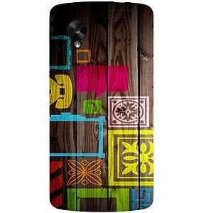 Casotec Stamps on Wooden Texture Design Hard Back Case Cover for LG Google Nexus 5