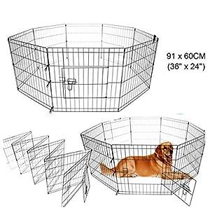 Paneltech Cage pour chien 24 / 30 / 36 / 42 inch Animal Cage de transport cage Cage à chiot Parc Enclos chiot Bec Parc Enclos Animaux Chien Chien Chien Cage Animal chiot Enclos Animaux Parc Enclos pour chiot chiens
