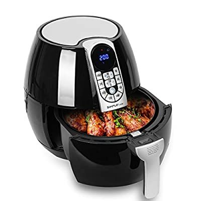 Heiluftfritteuse Digitale Fritteuse Simpletaste Einstellbare Thermostat Und Timer Aerofryerair Fryer Led Digitalem Touch Display Rapid Air Umluft Technologie Ohne L Mit 1500 Watt 32 Liter