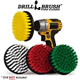 Drill Brush - Cleaning Supplies - Power Scrubber Brush Variety Sampler Kit - Grout Cleaner - Spin Brush - Tile Cleaner - Boat Brush - Bathtub Cleaner - Window Cleaner - Mineral Deposits, Soap Scum