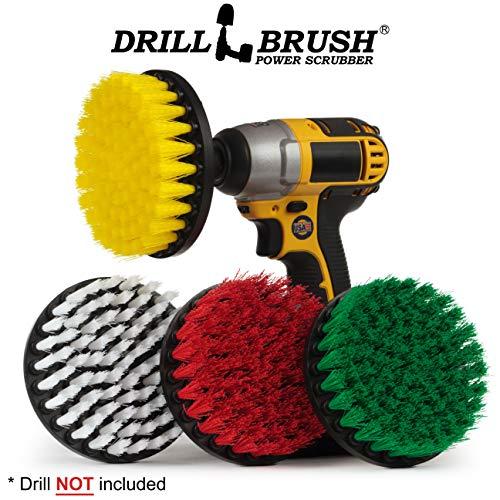 Drill Brush - Reinigungszubehör - Netz Scrubber Pinsel Variety Sampler Kit - Fugenreiniger - Spin Brush - Fliesenreiniger - Boot-Bürste - Badewanne Reiniger - Glasreiniger - Erzlagerstätten, Soap Scum -