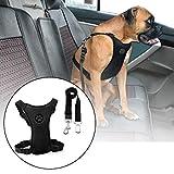 Casavidas Size M Air Mesh Dog Car Seat Belt Adjustable Harness with Clip Lead Pet Travel