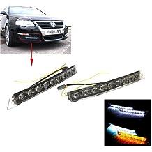 Tera® Universal 2 x 9 Luces de Circulación Diurna Auto Luces LED de Circulación Diurna Car Running Day Light