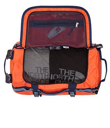The North Face Base Camp Duffel Bag - Borsa da viaggio acrylic orange - blue
