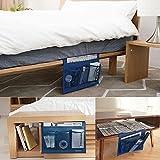 Bedside Caddy Storage Organizer Hängenden Beutel, Tasche unter Couch Tisch Matratze Buch Remote Glasses Caddy in den Armen zu erreichen EU-SPH-055-NB