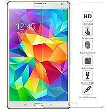 Ganvol Vidrio Templado Film Protector de Pantalla Membrana para Samsung Galaxy Tab S 8.4 Pulgada WIFI T700 LTE T705 [Alta Transparencia Ultra HD] [Dureza de 9H] [Resistente a los Arañazos] [Colocación 100% Sin Burbujas] [Superficie Anti Huellas] [Anti Amarilleo] [Larga Duración] [0.33 mm]