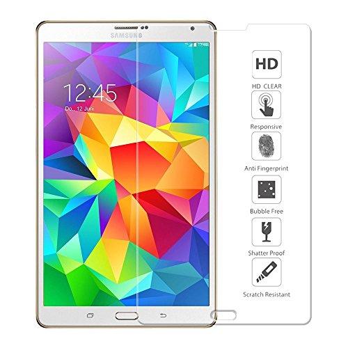 Samsung Tab S 8.4 Panzerfolie, Ganvol Panzerglas Samsung Galaxy Tab S 8.4 Zoll SM-T700 T705 Blickschutzfolie Hartglas Folie Schutzglas Bildschirmschutz Folie aus gehärtetem Glas [0.33 mm]